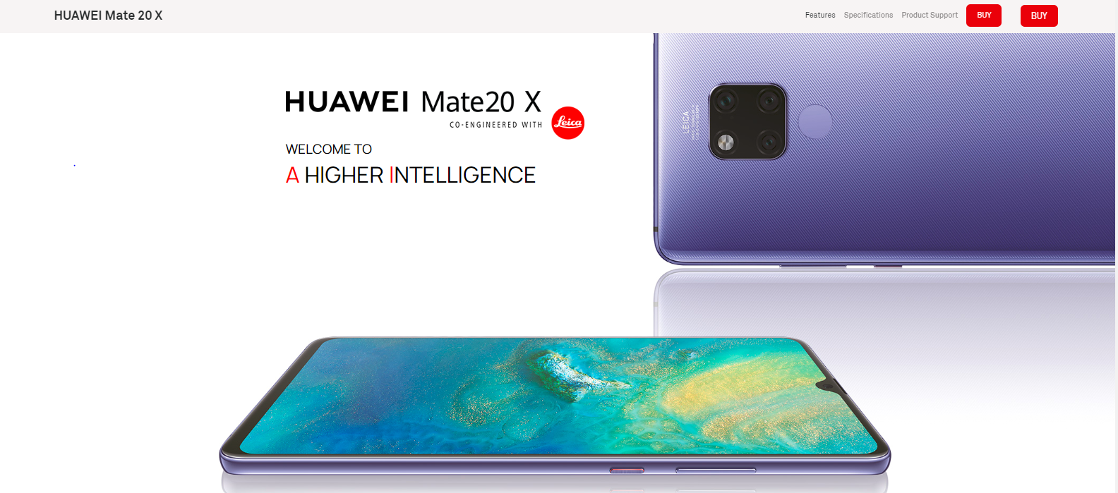 Image result for Huawei mate 20 x A HIGHER INTELLIGENCE